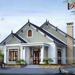 Thiết kế nhà vườn 150m2 3 phòng ngủ trên đất 13.7x13.5m BT1524