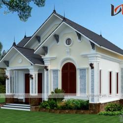 Mẫu nhà vườn 1 tầng mặt tiền 8m kích thước 8x12m diện tích 100m2 BT1638