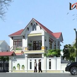Mẫu nhà 2 tầng mặt tiền 8m chiều sâu 13m thiết kế đơn giản BT1467
