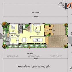 Mẫu nhà 2 tầng mái thái mặt tiền 8m chiều dài 18m 3 phòng ngủ BT1517