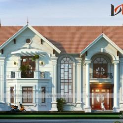 Hình ảnh biệt thự 2 tầng 200m2 thiết kế tân cổ điển sang trọng BT1624