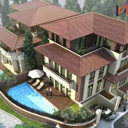 Mẫu thiết kế nhà biệt thự hiện đại 3 tầng đẹp BT1422