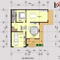 Nhà vuông 3 tầng khối hộp hình vuông hiện đại và sang trọng BT1464