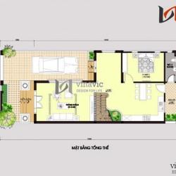 Nhà phố mặt tiền 7m hiện đại 3 tầng thiết kế kiểu tân cổ điển BT1482