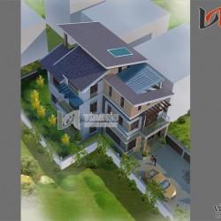Biệt thự 120m2 5 phòng ngủ 3 tầng 1 P.Khách, 1 P.Bếp ăn, 2 P.WC BT1487