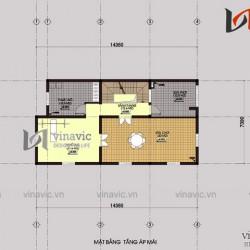 Mẫu nhà 4 tầng 110m2 mặt tiền rộng 7m thiết kế tân cổ điển  BT1500