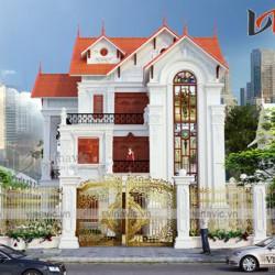 Thiết kế biệt thự 3 tầng 2 mặt tiền 450m2 dự kiến 2.5 tỷ ở Sơn La BT1635