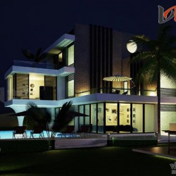 Thiết kế nhà biệt thự 3 tầng hiện đại và sang trọng có bể bơi mini BT1636