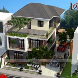 Nhà 3 tầng 1 mặt tiền hiện đại 300m2 mức đầu tư dự kiến 2,5 tỷ BT1651