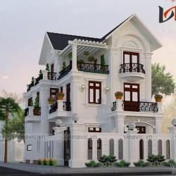 Biệt thự 3 tầng 120m2 5 phòng ngủ 2 mặt tiền 8m đầu tư khoảng 2 tỷ BT1657