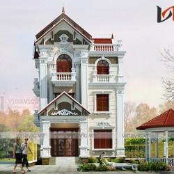 Mẫu nhà 3 tầng ngang 8m sâu 13m diện tích 100m2/sàn ở Ninh Bình BT1664