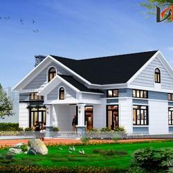 Mẫu thiết kế nhà cấp 4 đẹp 1 tầng 1 lửng BT1814