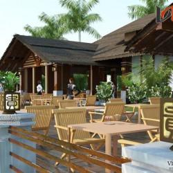 Xem mẫu nhà hàng đơn giản hòa mình vào thiên nhiên NH04
