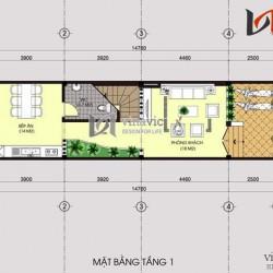 Mẫu thiết kế nhà ống đẹp 3 tầng hiện đại và khỏe khoắn NO1433