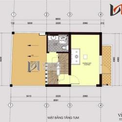 Bản vẽ thiết kế nhà ống 4 tầng đẹp hiện đại đường nét tinh tế NO1409
