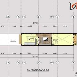 Mẫu nhà ống lệch tầng thiết kế đèn led và vật liệu kính ấn tượng NO1415