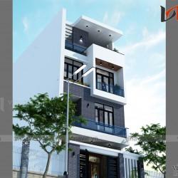 Xem mẫu thiết kế nhà ống đẹp 4 tầng phong cách hiện đại NO1424