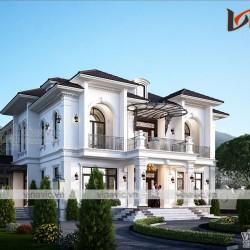 Nhà biệt thự tân cổ điển 2 tầng ở Ba Vì Hà Nội BT2025