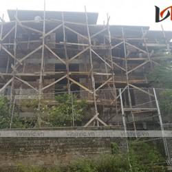Hoàn thiện công trình biệt thự 2 tầng 1 hầm hiện đại ven sông Cầu TCBT1669