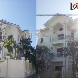 Hình ảnh thực tế xây nhà biệt thự đẹp 3 tầng hiện đại TCBT1403