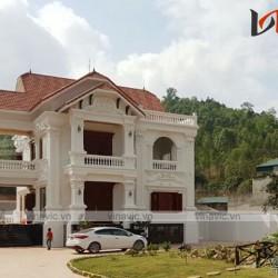 Thi công xây dựng nhà biệt thự đẹp 2 tầng và bán hầm cổ điển TCBT1402