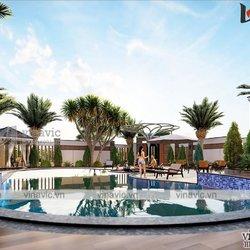 Biệt thự góc 3 tầng  2 mặt tiền hiện đại rộng 13m dài 16m có hồ bơi  BT2021
