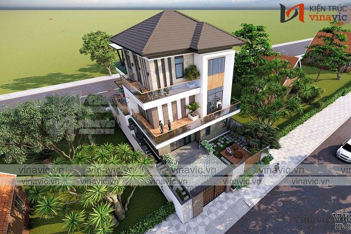 Biệt thự nhà vườn hiện đại 3 tầng ở Sơn La BT2101