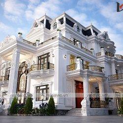 Biệt thự tân cổ 3 tầng nguy nga bề thế ở Ninh Bình BT2106