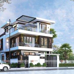 Mẫu thiết kế nhà 3 tầng hiện đại ở Hà Nội BT2112