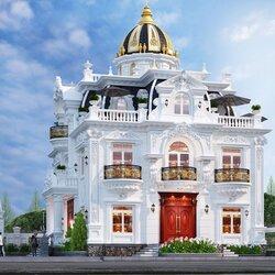 Biệt thự cổ điển 2 tầng 180m2 đẹp như cung điện BT2120