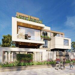 Biệt thự nghỉ dưỡng hiện đại 3 tầng kiểu singapore BT2123