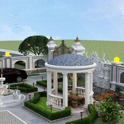 Thiết kế biệt thự vuông 2 tầng cổ điển ở Hòa Bình BT2124