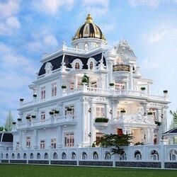 Thiết kế lâu đài cổ điển 4 tầng đẳng cấp ở Bình Định BT2101