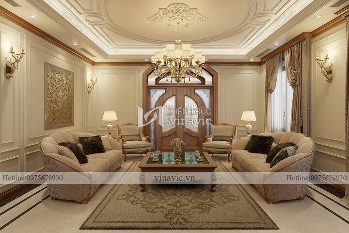 Thiết kế nội thất tân cổ điển gỗ tự nhiên NT2104