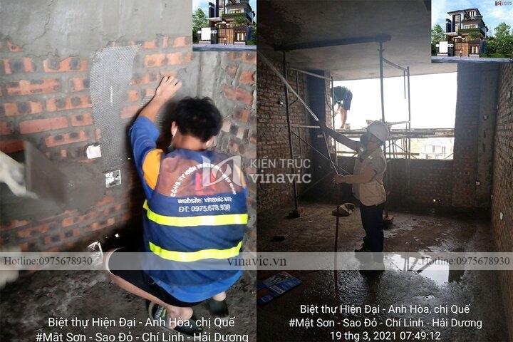 Thi công trọn gói biệt thự cao cấp ở Chí Linh- Hải Dương