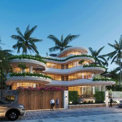Thiết kế biệt thự view biển Nha Trang hiện đại 4 tầng BT2135