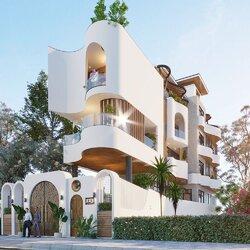Thiết kế nhà mặt tiền rộng 7m sâu 25m 3 tầng hiện đại BT2145