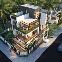 Biệt thự lô góc 2 mặt tiền 3 tầng hiện đại rộng 10m sâu 15m BT