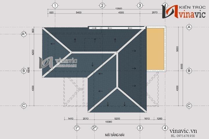 Biệt thự 2 tầng chữ L với hệ thống cửa thông thoáng BT1489