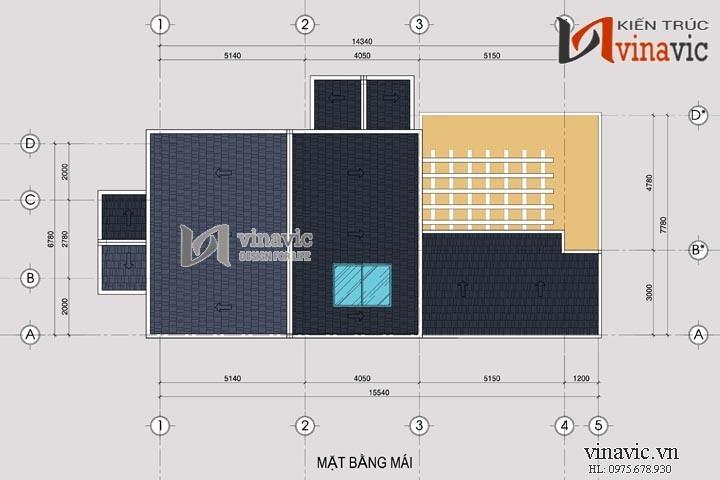 Mẫu nhà đẹp 3 tầng 120m2 4 phòng ngủ mặt tiền rộng 8m BT1483