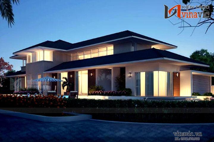 Ấn tượng với mẫu thiết kế biệt thự hiện đại đẹp BTCC1602