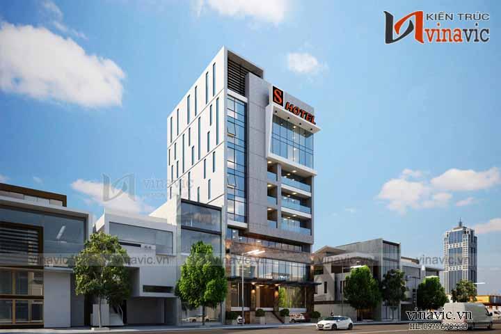 Mẫu thiết kế khách sạn văn phòng đẹp KSVP03