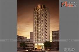 Mẫu thiết kế khách sạn văn phòng đẹp KSVP04