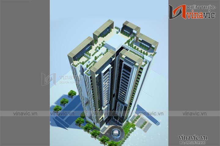 Mẫu thiết kế khách sạn văn phòng đẹp KSVP07