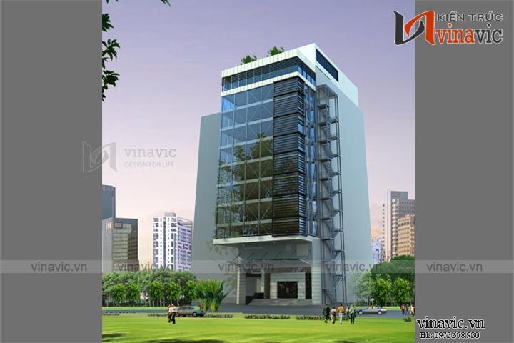 Mẫu thiết kế khách sạn văn phòng đẹp KSVP10
