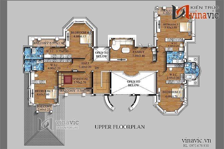 Nổi bật với mẫu thiết kế dinh thự đẹp và sang trọng LDDT01