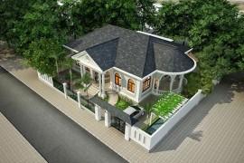 Mẫu thiết kế nhà biệt thự 1 tầng đẹp BT1432