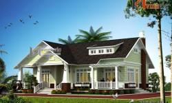 Biệt thự nhà vườn 1 tầng đẹp phong cách tân cổ điển BT1444