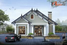 Mẫu thiết kế nhà biệt thự hiện đại đẹp 1 tầng BT1524