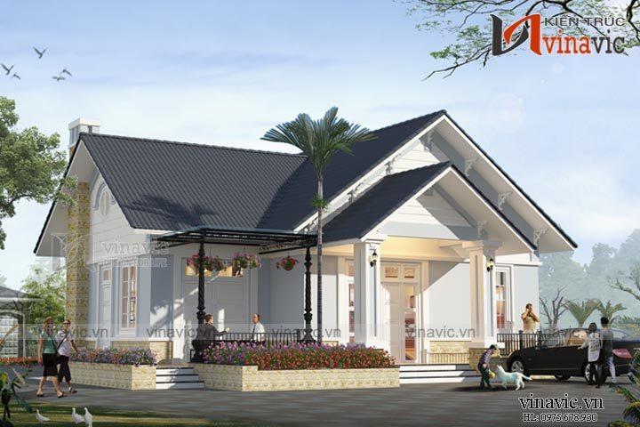 Thiết kế nhà vườn 120m2 3 phòng ngủ trên diện tích đất 12x10m BT1528